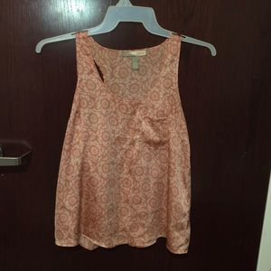 Satin Tank with Sunflower detail